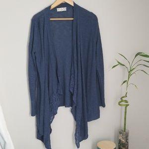 Dusty blue drape cardigan